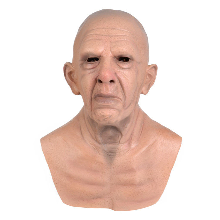 real facial latex whole face Horror halloween customized human old man mask