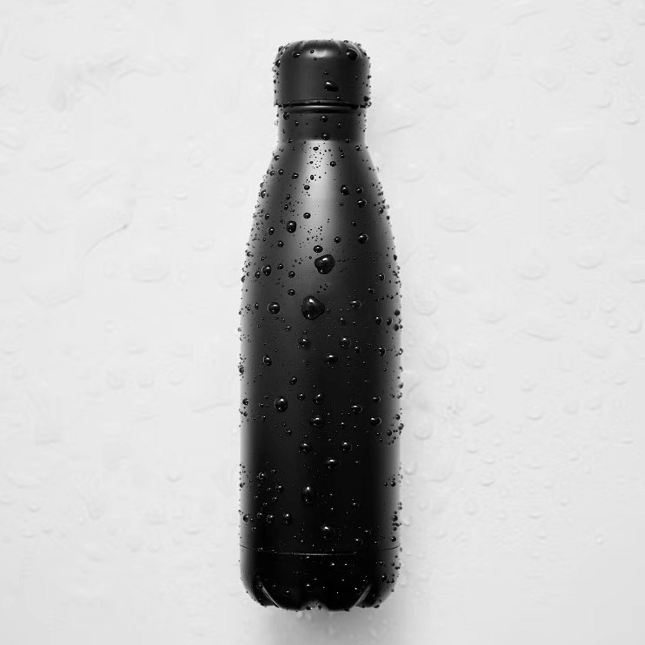500 Ml Cola Bentuk Double Berdinding Stainless Steel Matte Hitam Botol Air