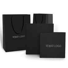 2019 Reusable China Custom Black Gift Shopping Bag