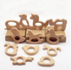 China Factory Wholesale Food Grade Beech wood Animal Teether for baby