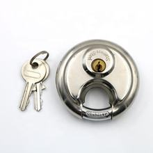 Heavy Duty Keyed Alike Waterproof Anti Theft  Round Stainless Steel Disc Padlock