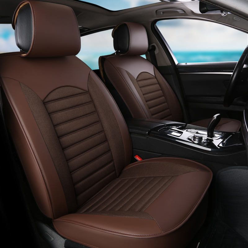 Seat Covers Car Universal Full Set Leather Universal Car Leather Seat Covers Set