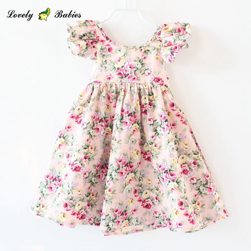 2019 Summer Manufacturer Wholesale Baby Girls Dresses Colorful Print mom and me clothing