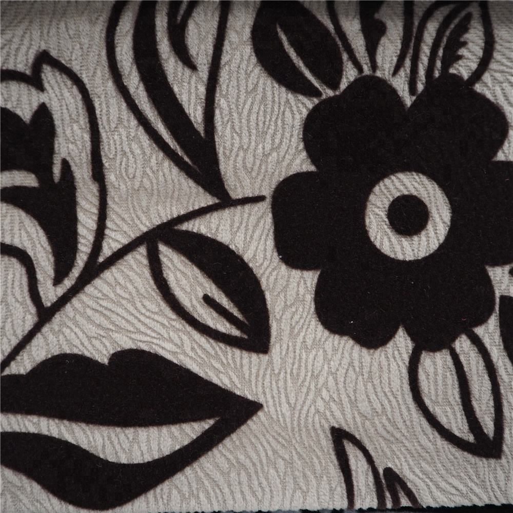 Flor patrón rebaño burnout cojines del sofá tela de la cubierta