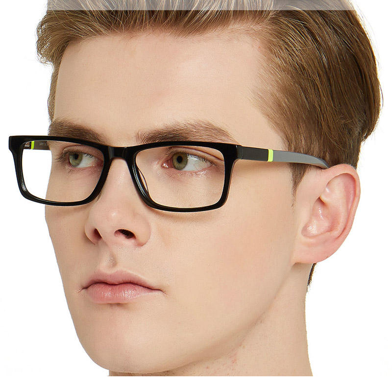 handmade unbreakable spectacle wholesale china design spectacles clear eyeglass square optical glass acetate frame