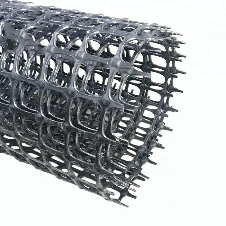High Quality Pp Biaxial Plastic-steel Reinforcement Earthwork Geogrid