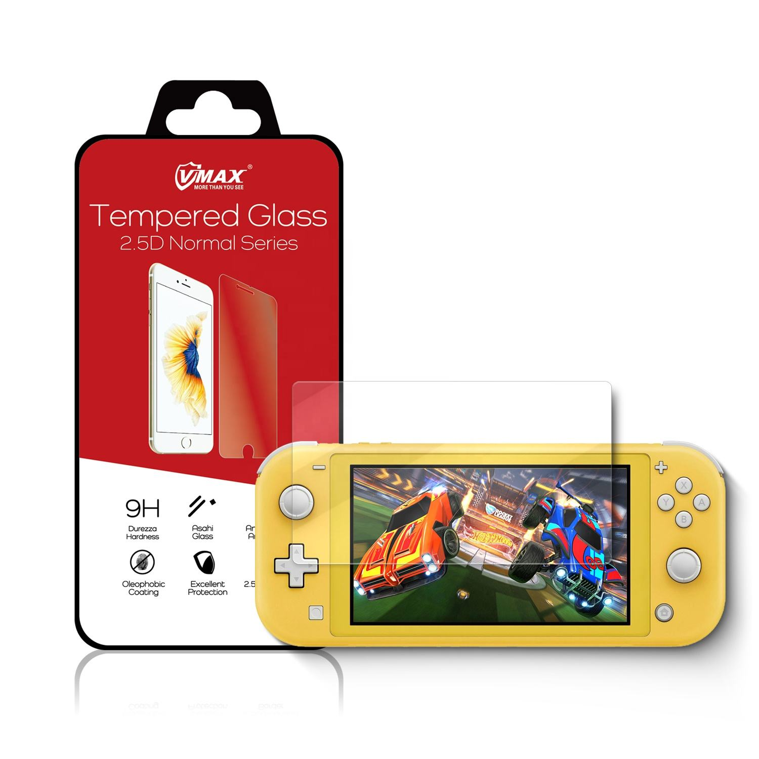 2019 new arrival for Nintendo Switch Lite 2.5d 0.33mm ultrathin 9h high clear screen protector tempered glass for game player