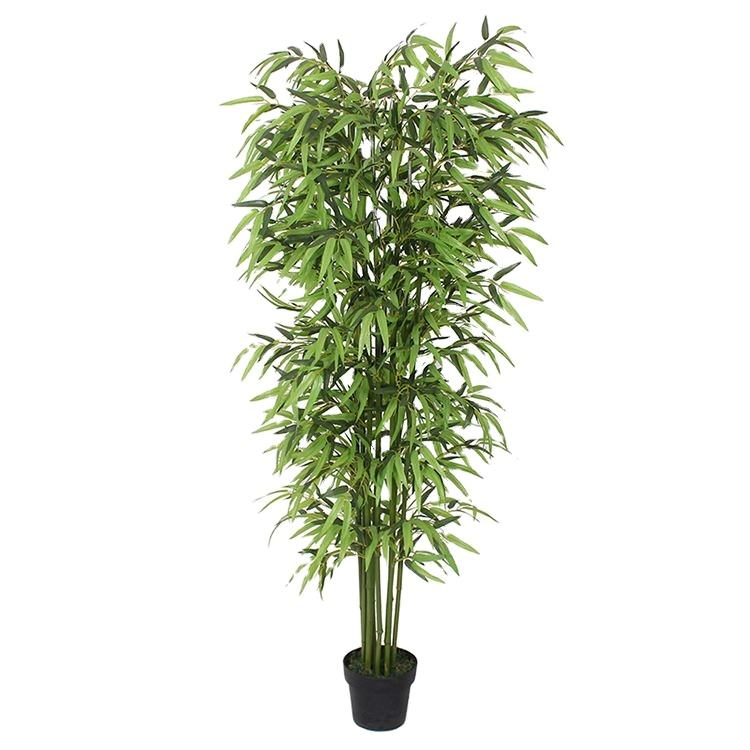 Professional made cheap eco-friendly fabric material for theme park wedding decor indoor artificial plants bamboo bonsai