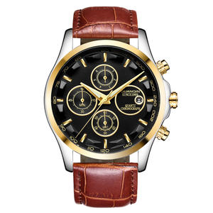 2019 Luxury Brand Men Quartz Watches Genuine Leather Waterproof Casual Wrist Watches for Man Sport relojes Outdoor Clock