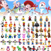 Free Shipping! All Disneyly Anime Cartoon Toy Story DIY Mixed mini action Figure Compatible Block figure toys For kids Doll