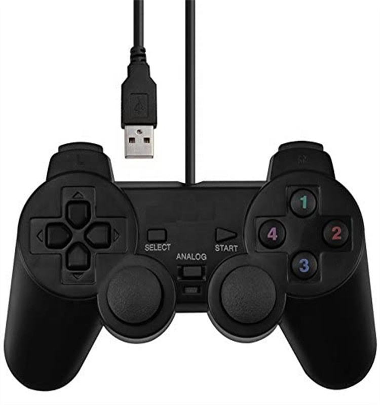 USB Wired Joystick Gamepad Gaming Pad Controller [Double Vibration Feedback Motors] Fit for PC Computer Laptop Window