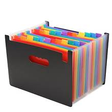 Portable Accordion A4 Expandable File Folder Large Capacity  Plastic Business 24 Pockets Expanding File Organizer