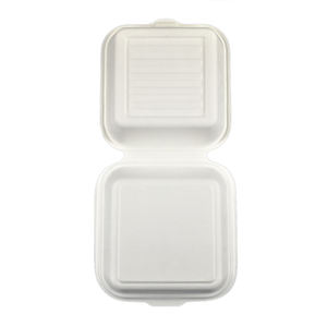 Biodegradable takeaway fast food food grade paper disposable big white burger box packaging