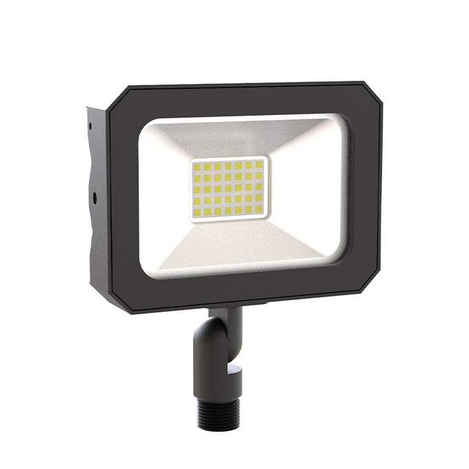 DLC cUL 10W DOB Dimmable LED Flood Light with Knuckle