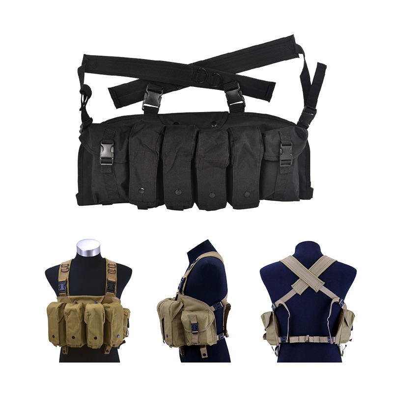 OEM Tactical AK Chest Rig Military Pouches Magazine Vest Carry Vest Military Magazine Gear