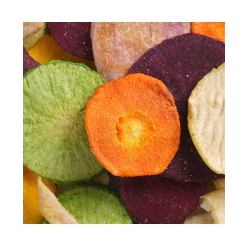 wholesale OEM 80g salty simply nature vaccum fried taro vegetable chips crisps price