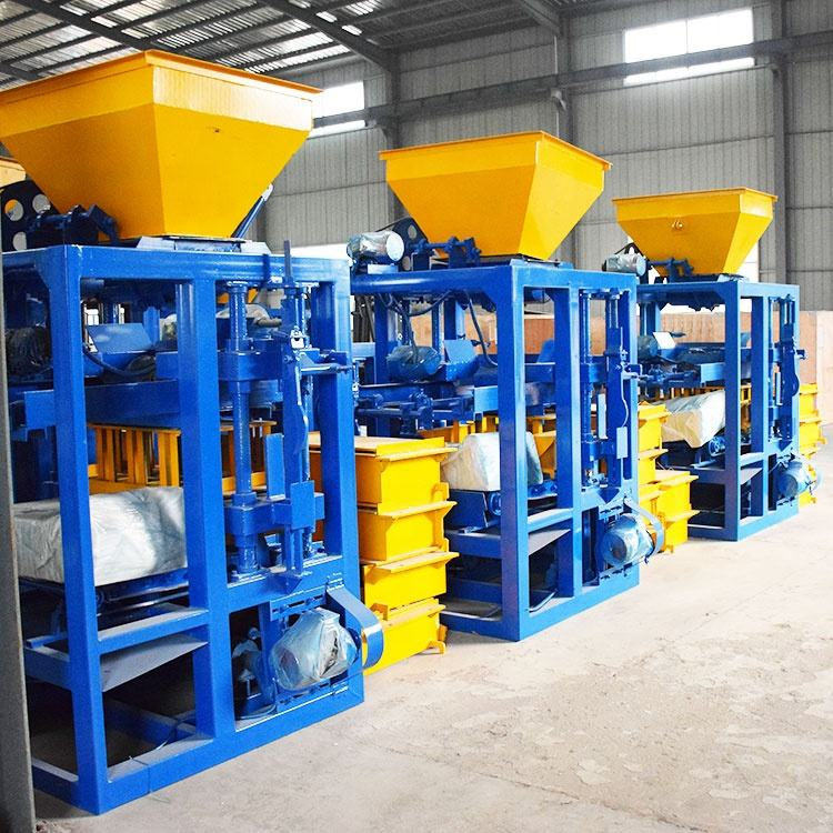 QTJ4-24 interlock paver standard solid block making machine road blocks direct factory equipment