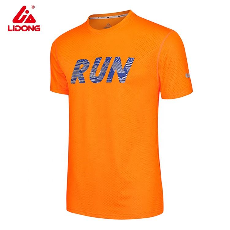 Custom sublimation print logo OEM polyester quick dry fit running t-shirt mens and women running tee shirts