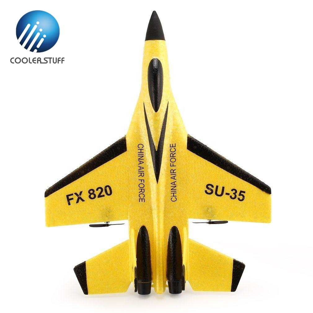 Coolerstuff High Quality SU35 FX820 Jet Plane RC Flying Radio Control Aircraft Airplane Fighter Aeroplane Model Toy for Kids RTF