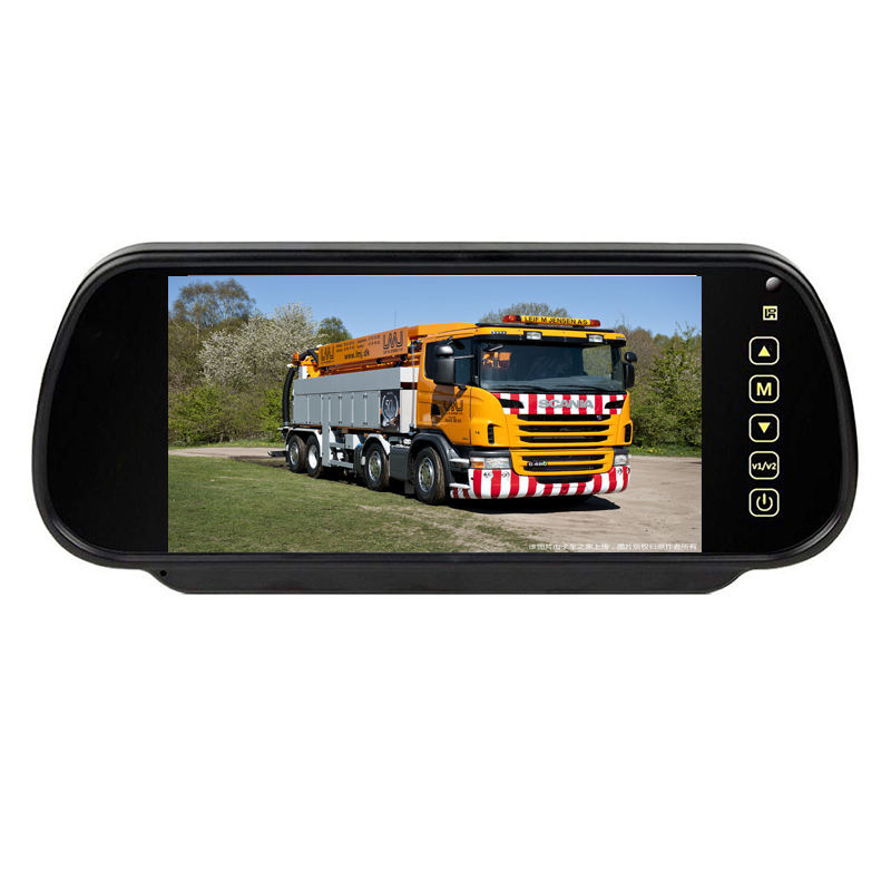 Hot Selling CE RoHS Clip-op 7 Inch TFT LCD Car Achteruitkijkspiegel Monitor Voor Bus Truck DC12V 24V 36V