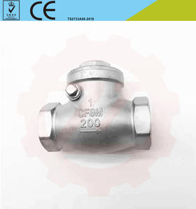China supplier DN15-DN100 PN16 Water casting industrial 8inch thread end swing check valve