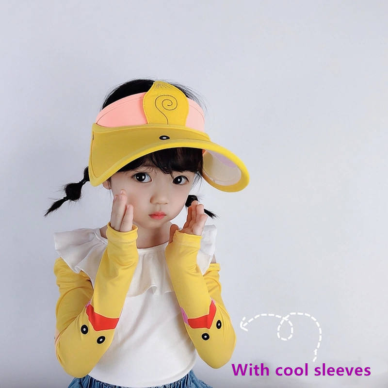 New style lovely sun visor hat summer hat kids and sleeves