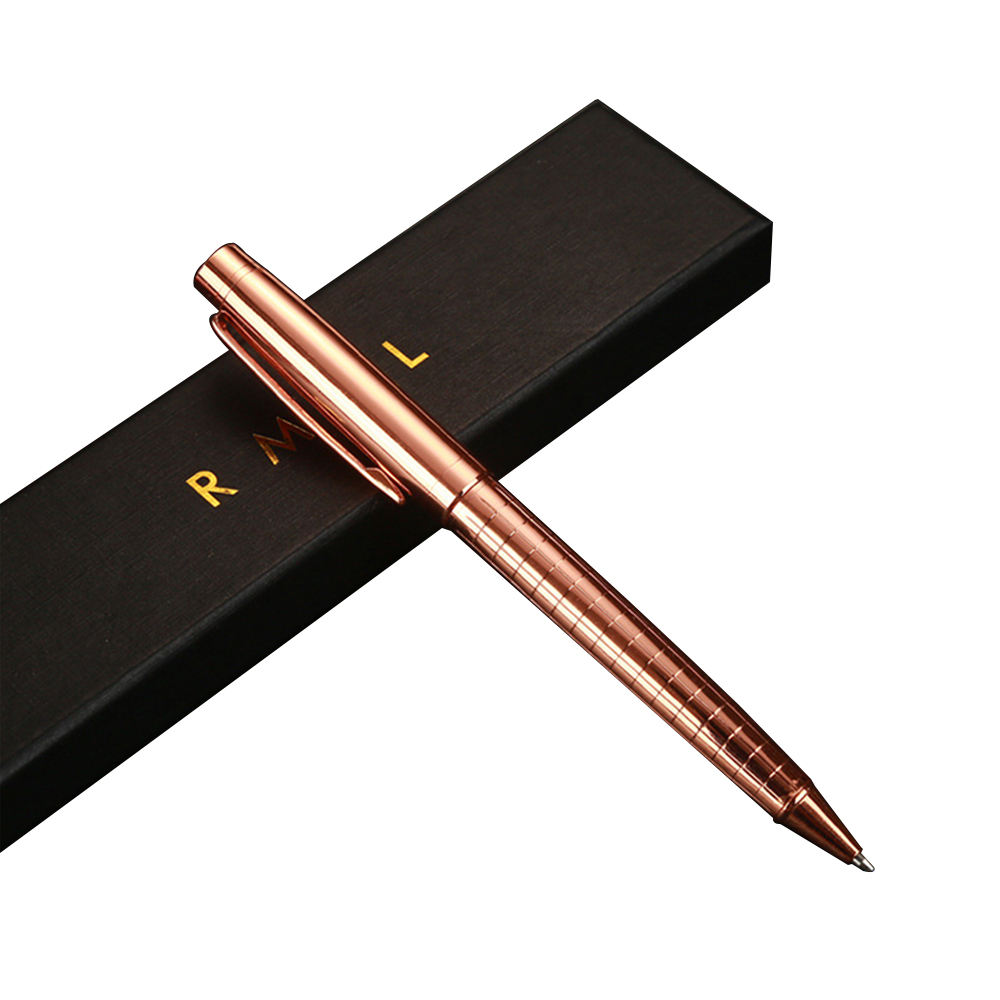 Wholesale Luxury Metal Rose Gold Ballpoint Pen Office Supplies Elegant Custom Logo Pens