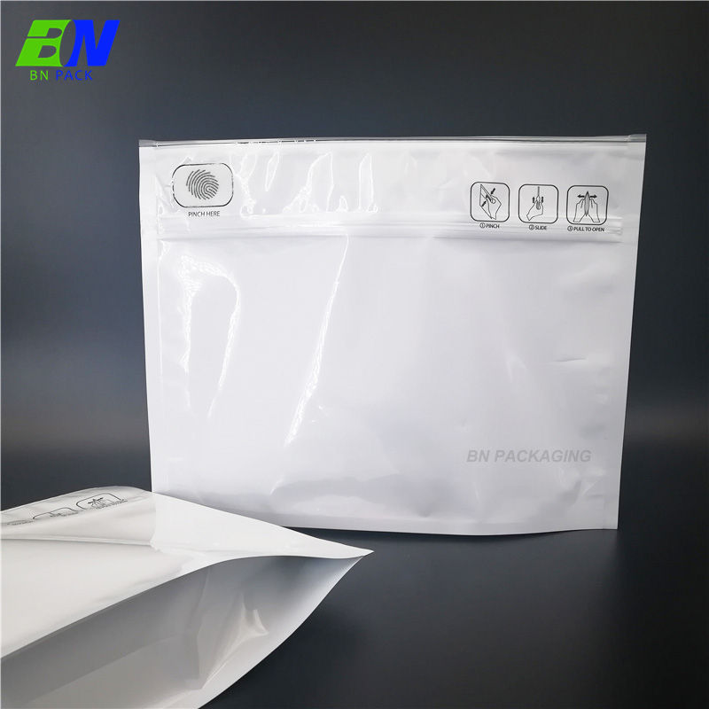 Child Resistant Packaging Pinch and Slide Mylar Smell Proof Bags