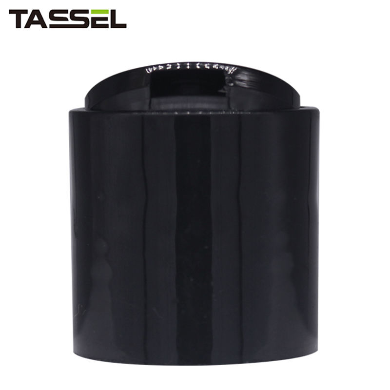 Professional Black Color Cosmetic Bottles Screw Disc Top Cap