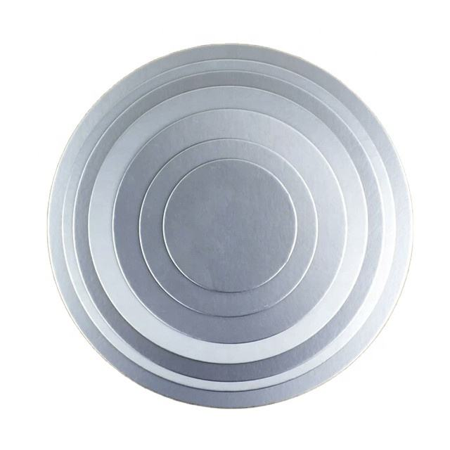 Decoration baking cardboard round square shape silver cake base