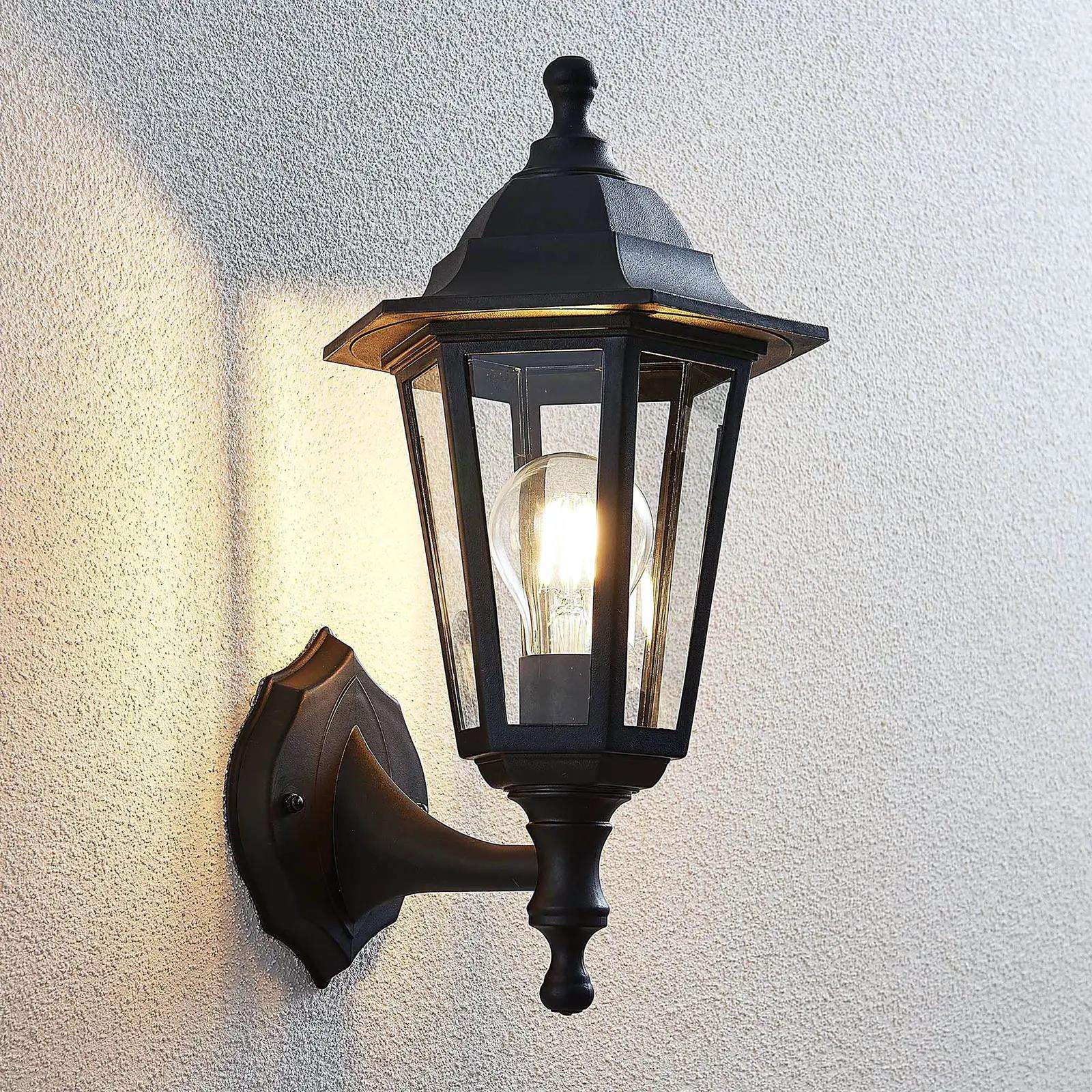 IP44 Outdoor Exterior Wall Light Exterior Outdoor Lantern Light With Stamped Glass外壁ランタン