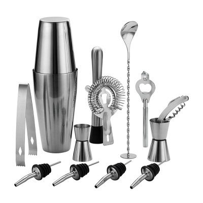 12 pcs set barware amazon bar bartender mixology bottle kit tools accessories stainless steel cocktail shaker set