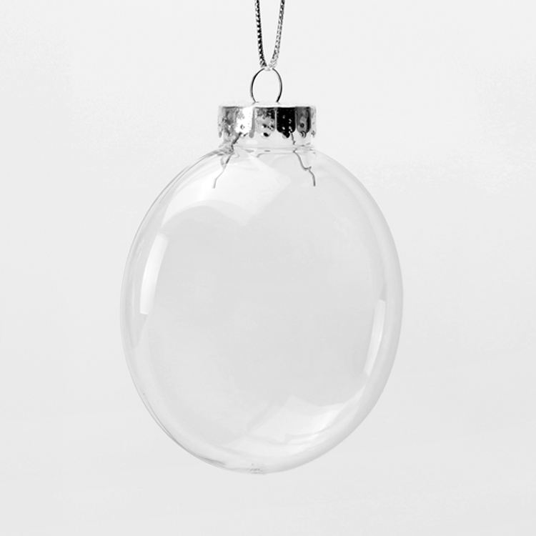 Indoor Outdoor Plastic Kerst Ornamenten Clear Ornamenten 100Mm Platte Xmas Ornamenten Plastic