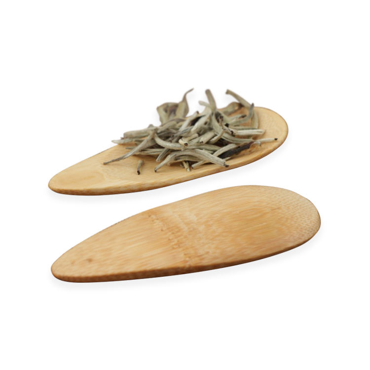 Fancy Eco-Friendly Natural Engrave LOGO Mini Bamboo Tea Scoop Spoon
