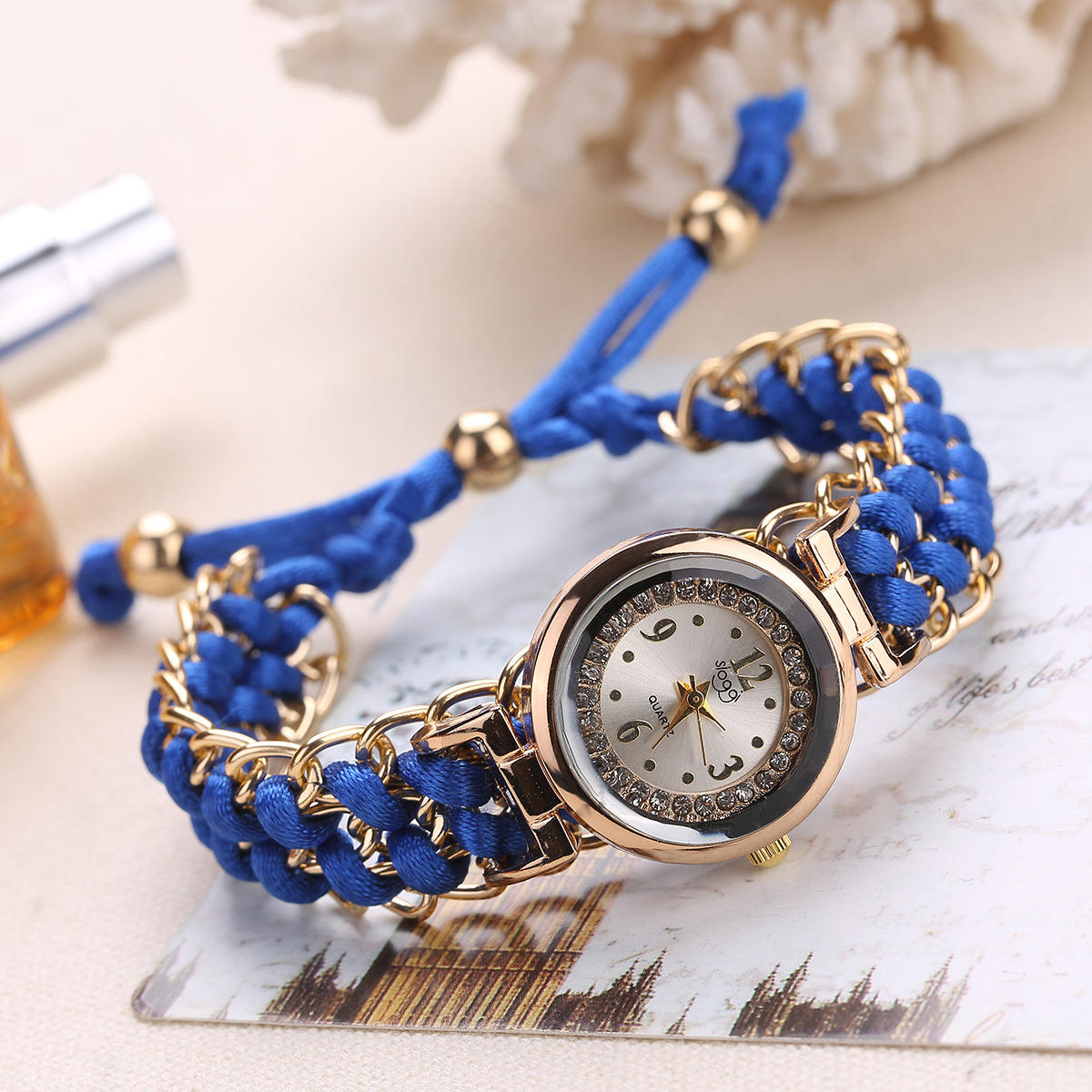 New product creative women's hand-woven stretch rope bracelet new watch stretch rope bracelet watch