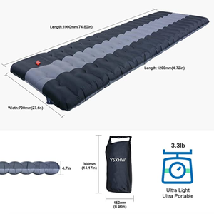Thick 4.7 Inch Lightweight Air Camping Mat Sleeping Pad Ultralight Waterproof PVC Inflatable Self Inflating Camping Mattress