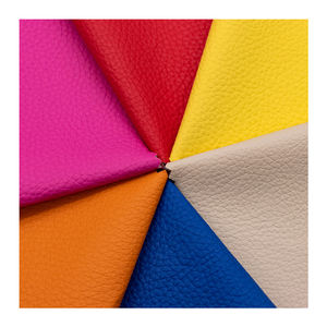 Cheap Litchi Grain Pattern PVC Leather Home Textile and Sofa leather products Material with 1.0mm Thickness