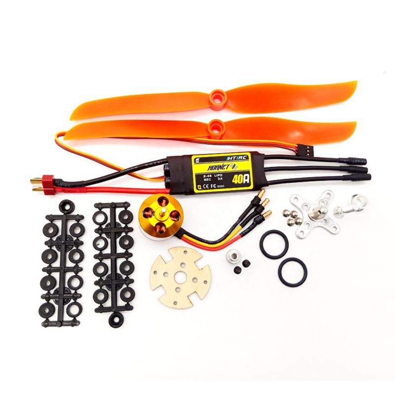 Direct Factory Price XXD 2212 2450KV Power System Combo 40A ESC Propeller Drone Brushless RC Motor For Fixed Wing Helicopter