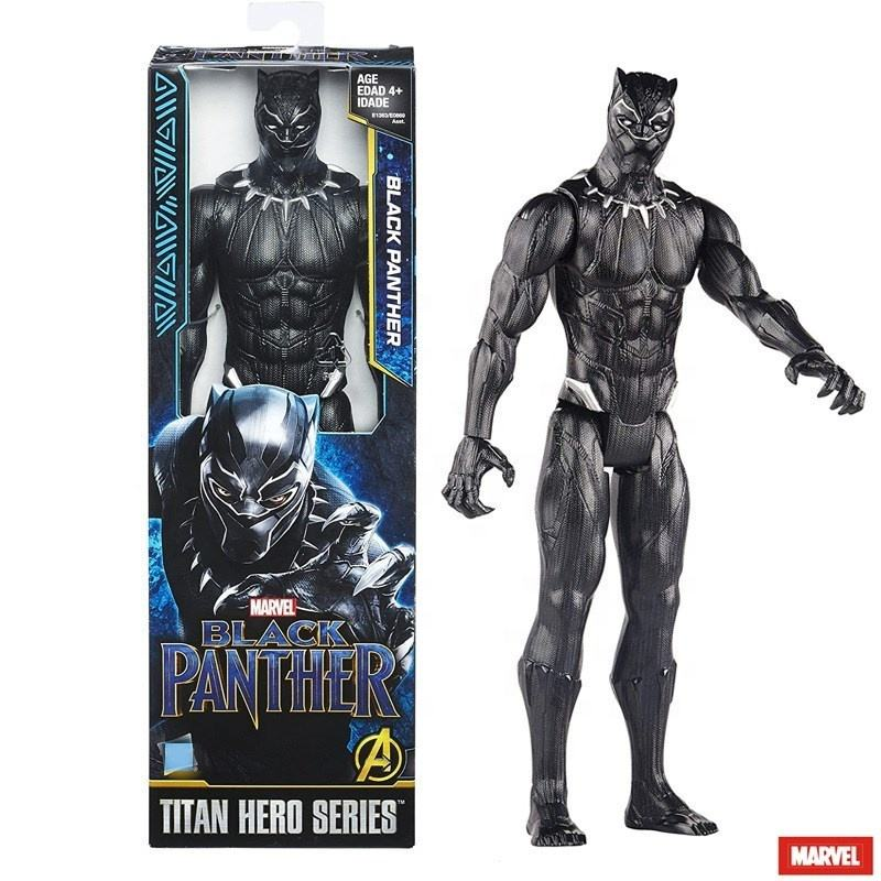 Black Action Figures 28cm Panther Model Doll PVC Christmas Gift for Kids