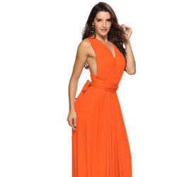 Maxi bridesmaids dress Multifunctional 26 colors Solid Color Women 1 in 15 wearing ways Elegant Ladies Long Party Dress