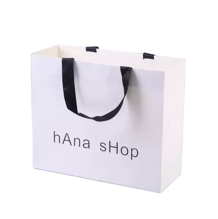 High quality low cost art paper shopping bags wholesale with logos custom