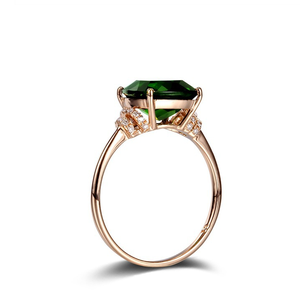 fashionable jewelry rings for women green diamond inlaid wedding rings