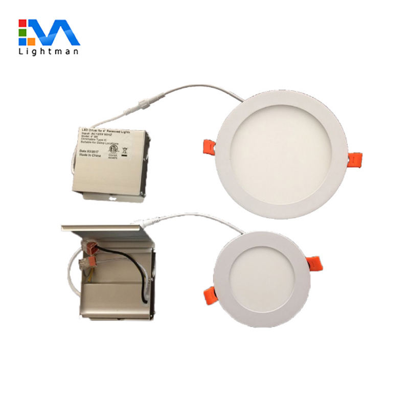 UL/ETL Dimmable Led Downlight 3'' 4'' 6'' 8'' ul etl ultra slim 9w 120mm recessed small round cct dimmable led panel light 4inch