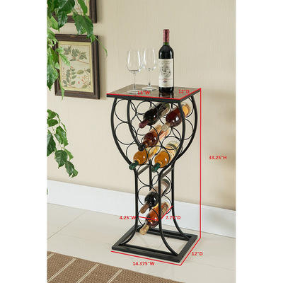 Iron standing wine storage rack display metal wine rack for living-room nodic style beverage holder for kitchen