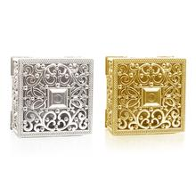 Originality Gold And Silver Square Sugar Gift Box Plastic Hollowing Out Storage Candy Boxes