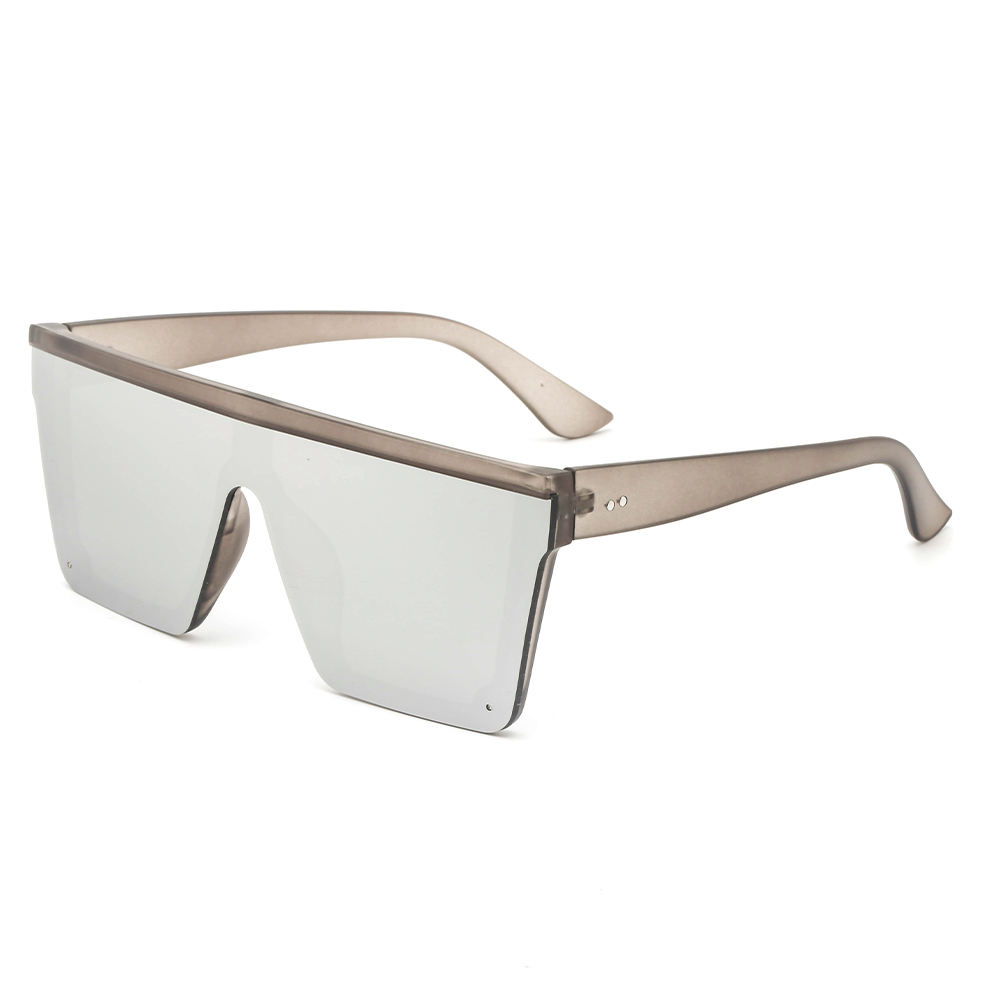 Stock low MOQ top flat mirror uv400 protection unisex tr90 sunglasses