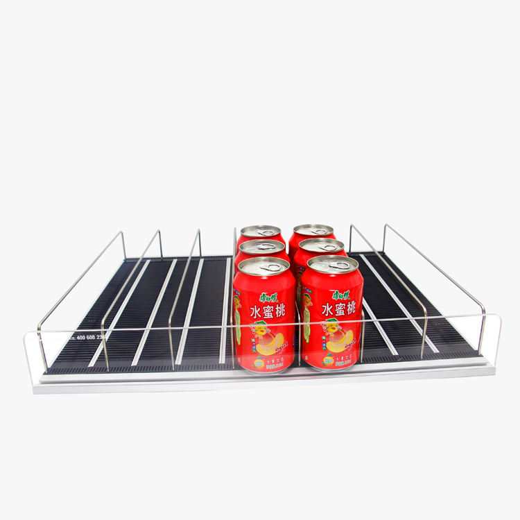 Fair Price Gravity Feed Roller Beverage Shelf Glides For Freezer Display Shelf Management System
