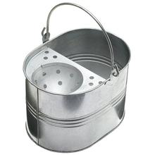 15 Litres Large Galvanised Metal Steel Mop Bucket with Handle for Home Office General Cleaning