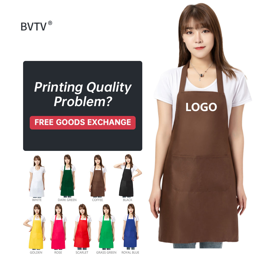 Wholesale Customised 60g Lightweight Large Capacity Pocket Outdoor Barbecue Apron Family BBQ Apron
