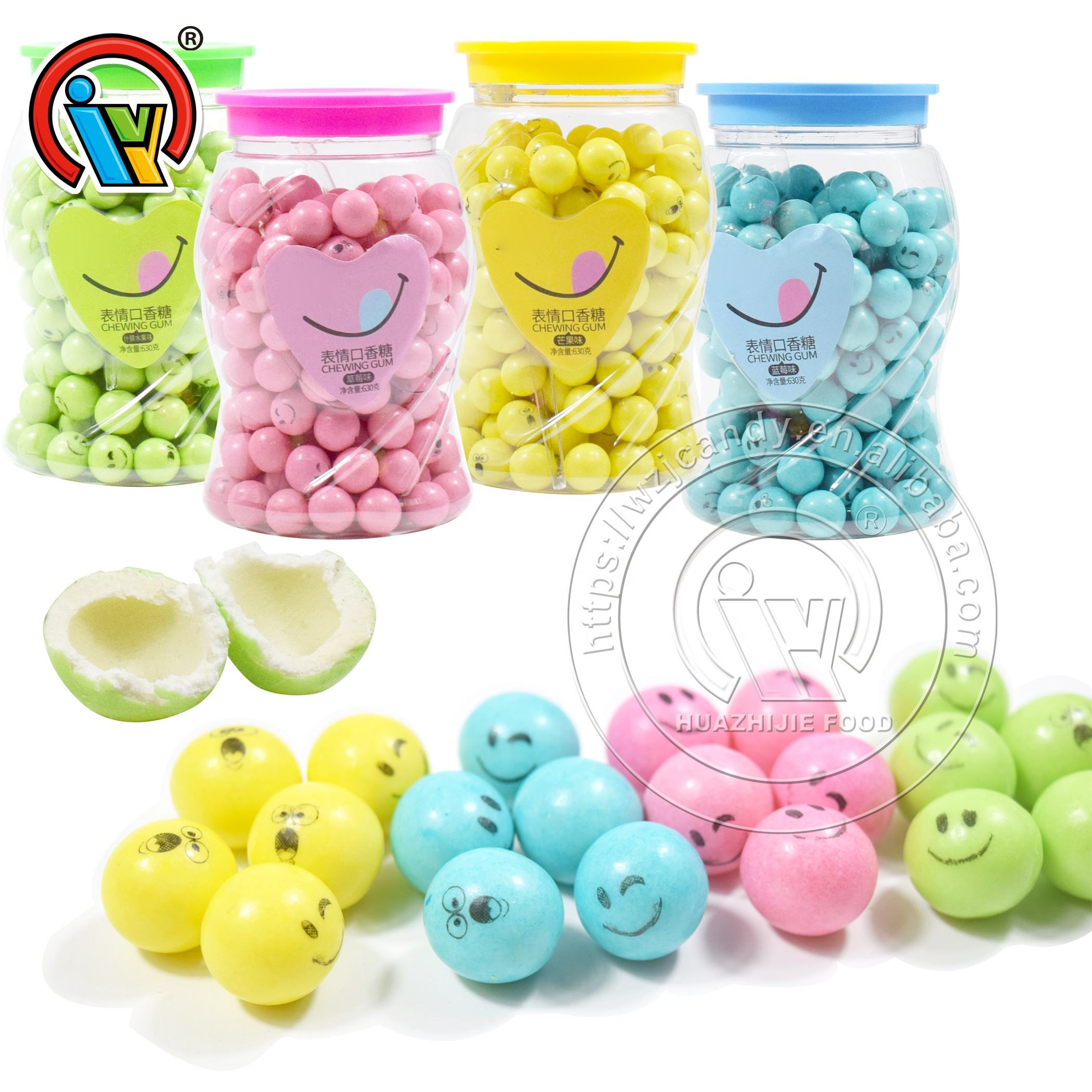 Expression Bubble Gum Ball Candy Custom Chewing Gum For Sale